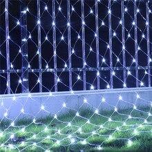 8 Modes 110V/220V Super Bright LED Net Mesh String Light Xmas Lights Garden Wedding Holiday Lighting LED Decoracion