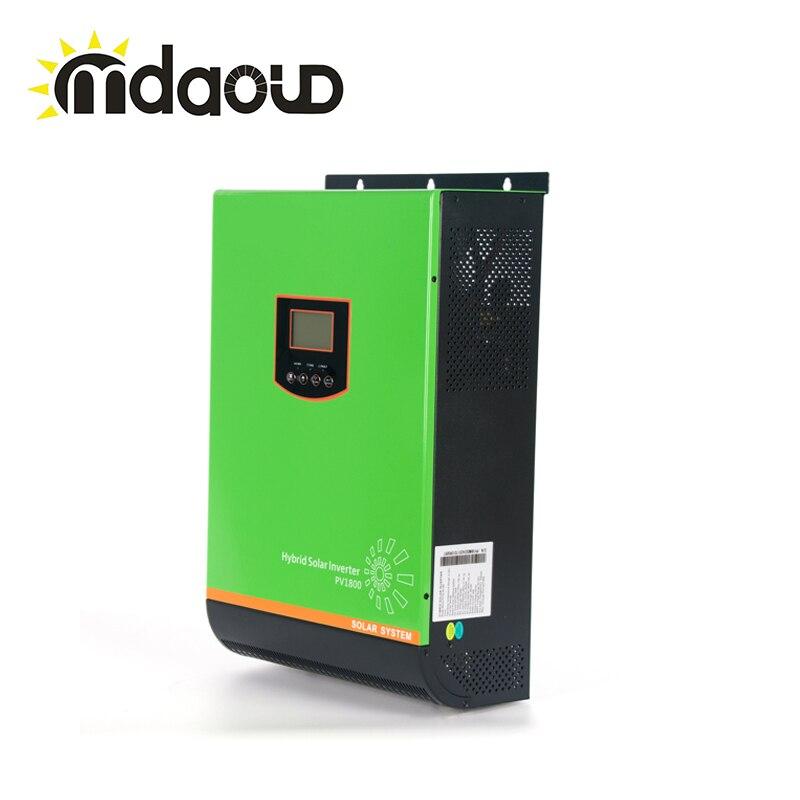Inversor solar de 5000 w en rejilla atada + fuera de la red 48vdc a 230vac 80A MPPT Cargador SOLAR 120VDC-430 VDC de entrada PV