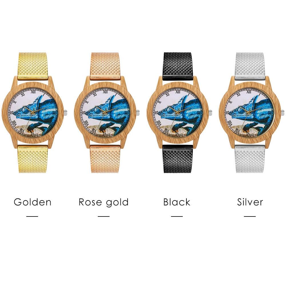 Rose Gold Watch Women Quartz Watches Ladies Top Brand Special Print Luxury Female Wrist Watch Girl Clock Relogio Feminino 1