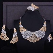 GODKI Super Luxury Imitation Collar Women Wedding Cubic Zirconia Necklace Earring Bangle Ring Jewelry Set Jewellery Addict