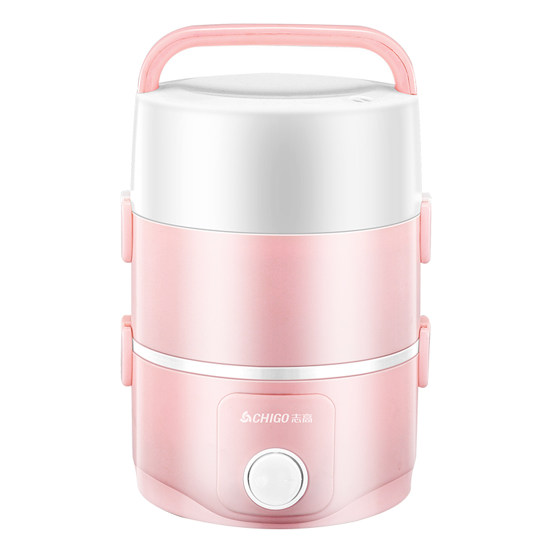 Lunchbox Electric  Three Layers of Plug-in Automatic Insulation Heating Mini Cooker  Charge Rice Artifact Pot 1 Person 2 1