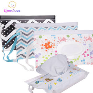 Wipes-Box Wipe-Container-Case Snap-Strap Cleaning-Wipes Quaslover Baby Carrying-Bag Clamshell