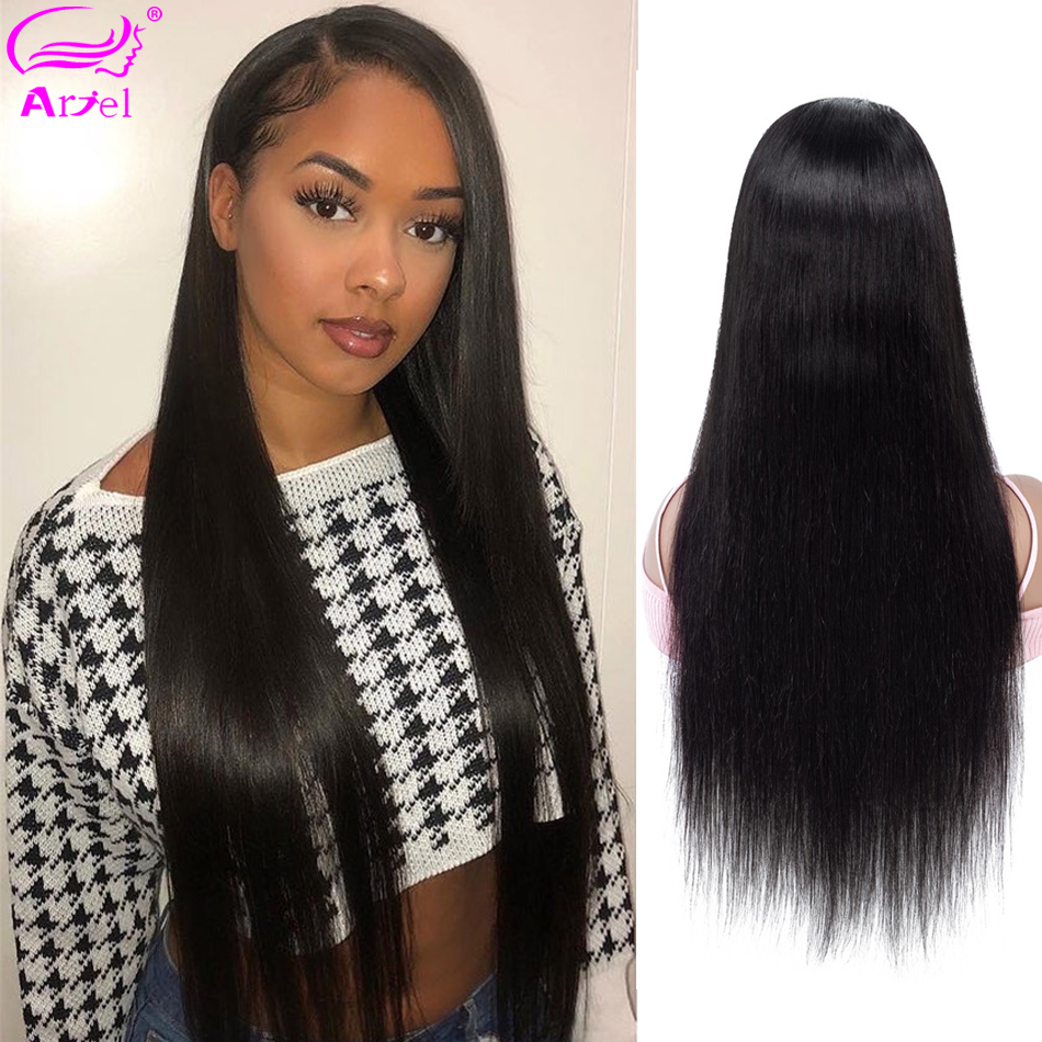 ARIEL Straight Lace Front Wig Lace Front Human Hair Wigs Brown Lace Wigs Perruque Cheveux Humain Remy Human Hair Brazilian Wigs(China)