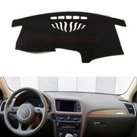For Audi Q5 Car Dashboard Avoid Light Pad Instrument Platform Desk Cover Mat With Velcro Auto