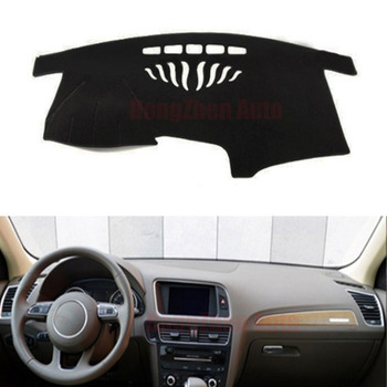 Dongzhen Fit Voor Audi Q5 Auto Dashboard Vermijd Licht Pad Instrument Platform Bureau Cover Mat Auto Styling