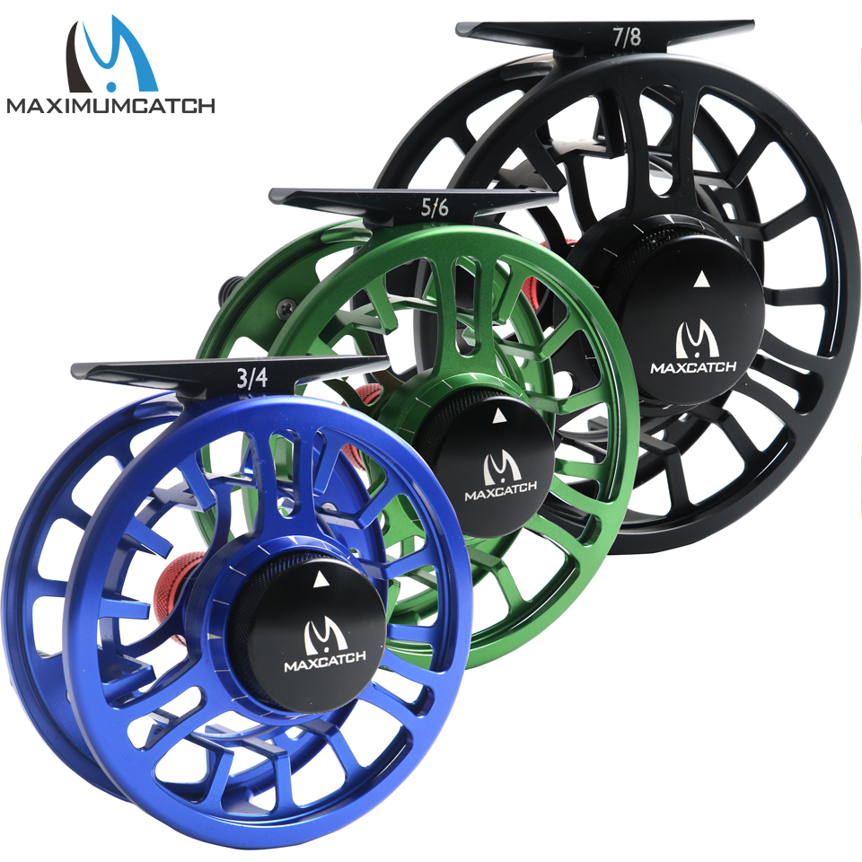 Maximumcatch Fly Reel Machined Aluminium Micro Adjusting Drag Large Arbor Fly Fishing Reel 3/4/5/6/7/8WT lancaster lancaster легкое молочко великолепный загар spf15
