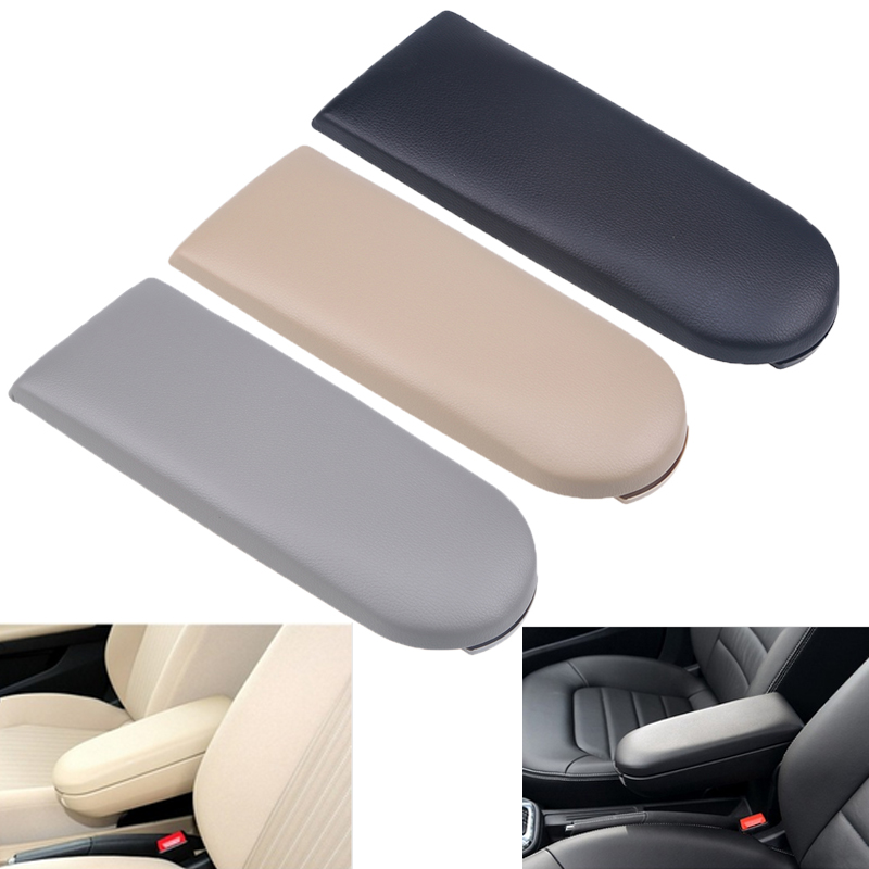 Leather Car Center Console Armrest Box Cover Auto Seat Armrests Box Pads Fit Volkswagen VW -B5/MK4/Jetta/Bora Black/Gray/Beige