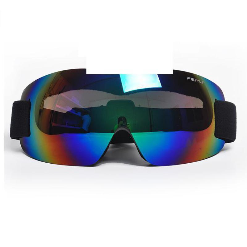 Новые бескаркасные один Слои лыжные очки лыжный Восхождение Открытый для верховой езды очки Для мужчин Для женщин детей большие сферически...