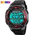 SKMEI Brand Men's Waterproof Sports Watches Men Multifunction Personalized LED Digital Watch Student Big Dial Black Wristwatches