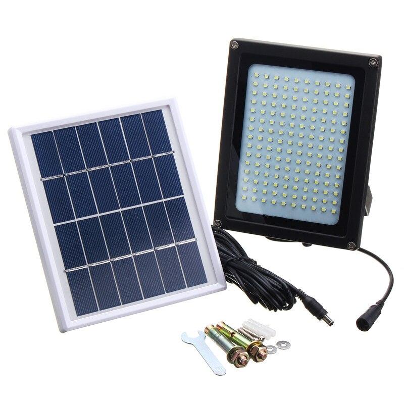 Mising 150 LED lumière solaire solaire alimenté lumière d'inondation 3528 SMD capteur étanche IP65 LED extérieur jardin Emeigency sécurité lampe