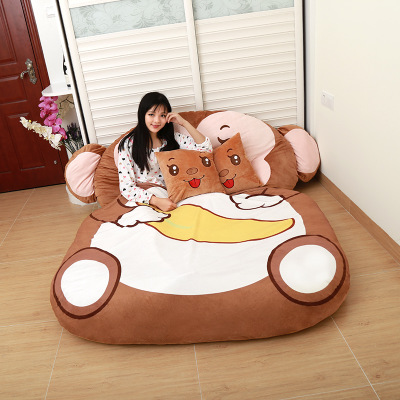 Gifts for children Cartoon Monkey Cartoon mattress, cushion, lovely and comfortable size of Queen FullGifts for children Cartoon Monkey Cartoon mattress, cushion, lovely and comfortable size of Queen Full