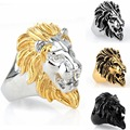 Hot Sale Men's Punk Style Silver/Gold/Black/Silver Gold Skull Biker Ring Fashion Skeleton Jewelry Size 7 8 9 10 11 12 13 14 15
