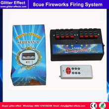 8 cue Stage cold fireworks firing system indoor fountain pyrotechnic Wireless Igniter Fireworks firing machine with remote