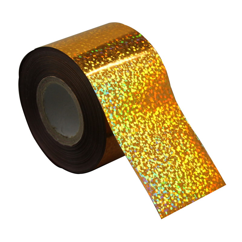 Glitter Gold Dots Plastic Nails Transfer Foils Fingernails Decals 120m*4cm Nail Art Foil Stickers Wraps Wholesale Retail WY274 1kg 3mm round dots glitter powder for nail polish or gel selectable glitter in bulk dot glitter silver gold loose wholesale