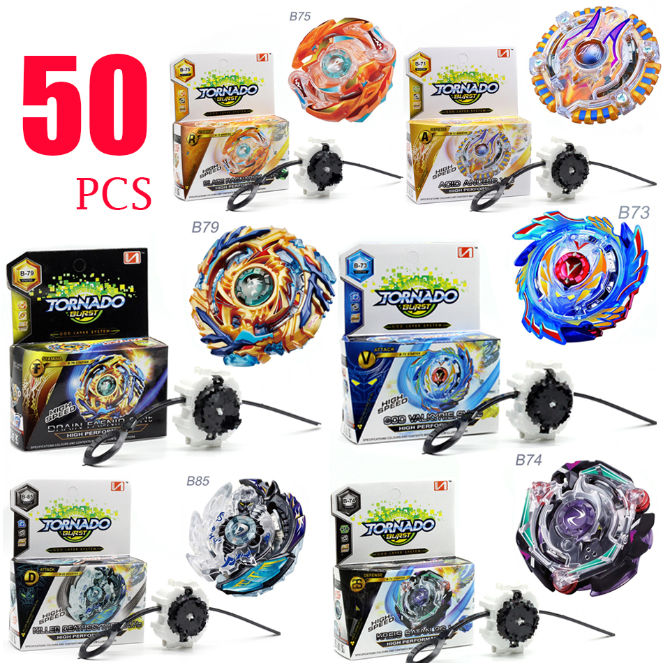 50PCS HOT Beyblade Burst 4D Set With Launcher and Arena Metal Fight Battle Fusion Classi ...