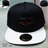 2016 Movie Peripherals Batman V Superman Baseball Hat Black Mixed White Net Cap Anime Hat CA269