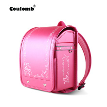 Coulomb Kid Orthopedic Backpack Baby Girl School Bags Japan PU Randoseru Portfolio For Girls Kinderrucksack