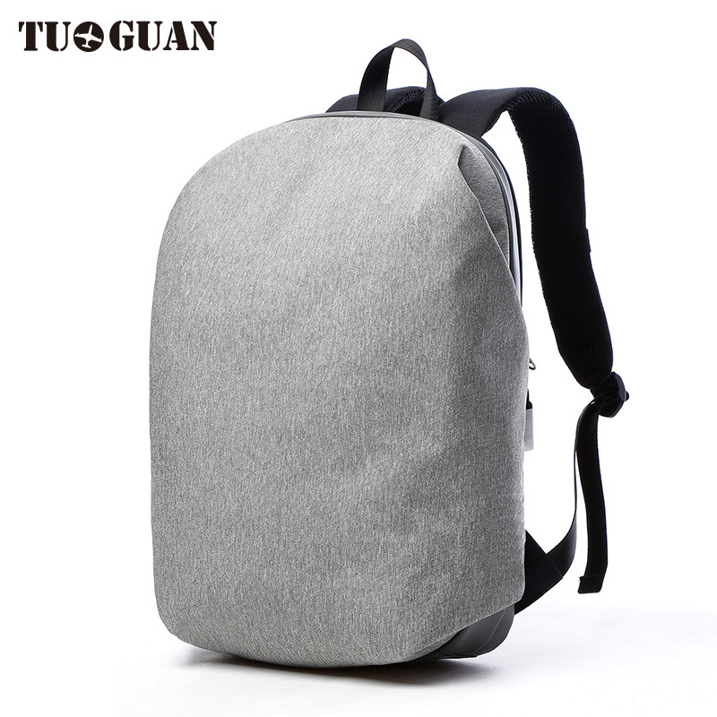 TUGUAN Fashion Men Waterproof Backpack Laptop Anti Thief Back Pack Bagpack Schoolbag College Student Travel Bags for Male Boys tuguan brand men backpack anti theft waterproof laptop backpack black canvas school bag for college student boys travel mochila
