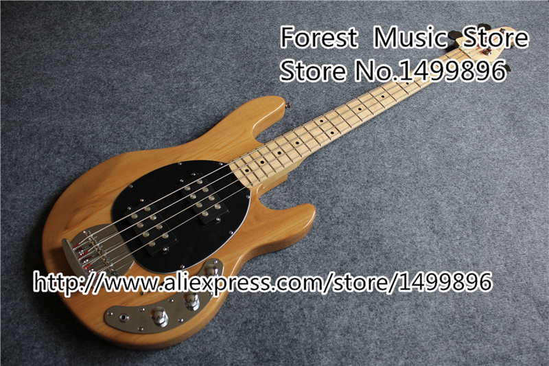 High Quality Musicman Bass Guitar In Nature Wood Color 4 String Bass Guitarra With Silver Hardware Free Shipping In Stock сумка tommy hilfiger aw0aw04731 002 black