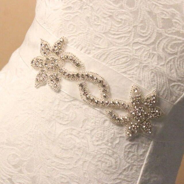 Sparking Crystal Bridal Belt Wedding Accessories Formal Dress Belt Bridal Sashes Wedding Stain Ribbon Handmade Brides Belts