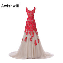 Real Photo Stunning Special Occasion Dress See Through Back Lace Tulle Women Formal Prom Gown Evening Dresses Made in China
