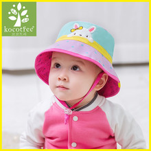 Kocotree Spring Summer Kids Dual-use Bucket Hat Reversible Sun Protection Cap Foldable Beach Bucket Fishing Cap Outdoor Sun Hat