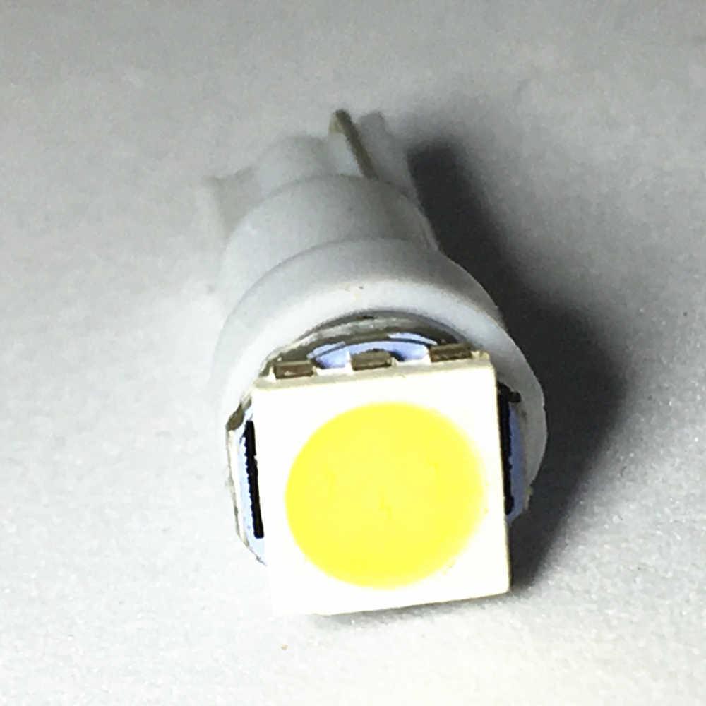 1pcs T5 white blue red yellow green Car led 17 37 73 74 SMD 5050 Auto LED Lamp Car Dashboard  Bulb Instrument Light 12V 10X