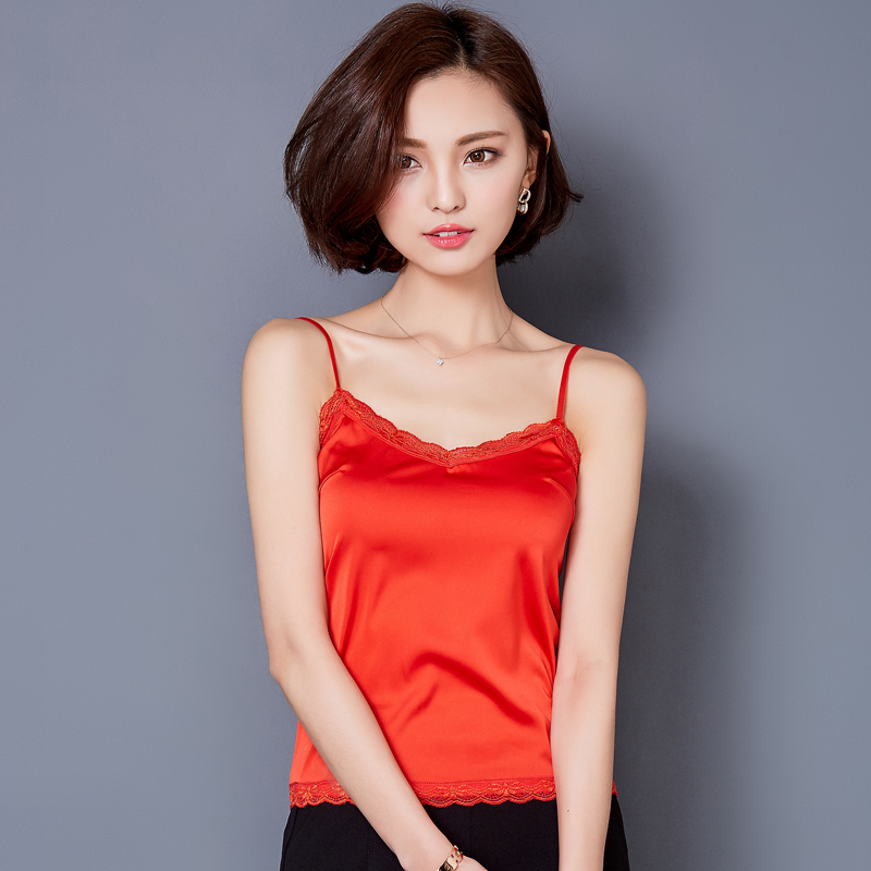 Crop top vrouwen 2017 zomer sexy kant zijde camis tank tops cropped mouwloze blouse fitness vrouwen shirt casual debardeur femme