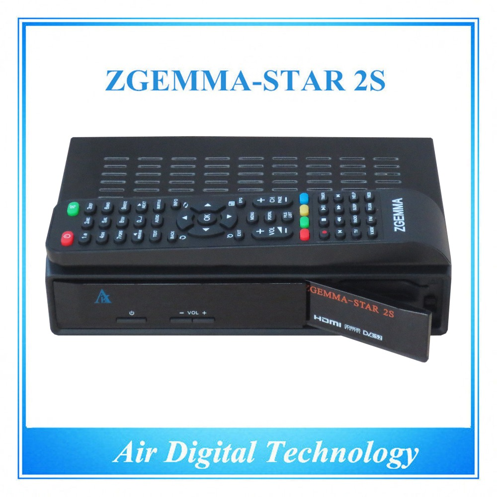 ФОТО 15pcs/lot Official High-Tech Software Supported Zgemma-Star 2S FTA Satellite Receiver With DVB-S2+DVB-S2 Twin Tuners IPTV Box