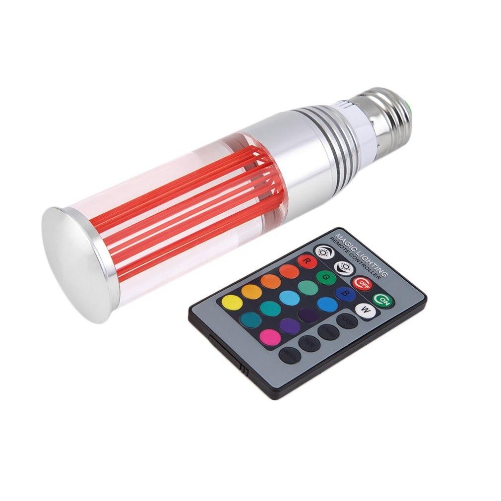 E27 RGB lumière LED 3 W 85-265 V télécommande ampoule en cristal avec capuchon