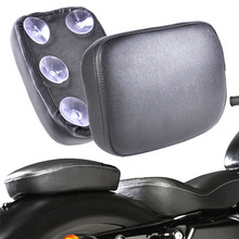 купить 1xBlack Rear Pillion Passenger Pad Seat 6 Suction Cups For Harley Bobber Chopper по цене 1144.36 рублей