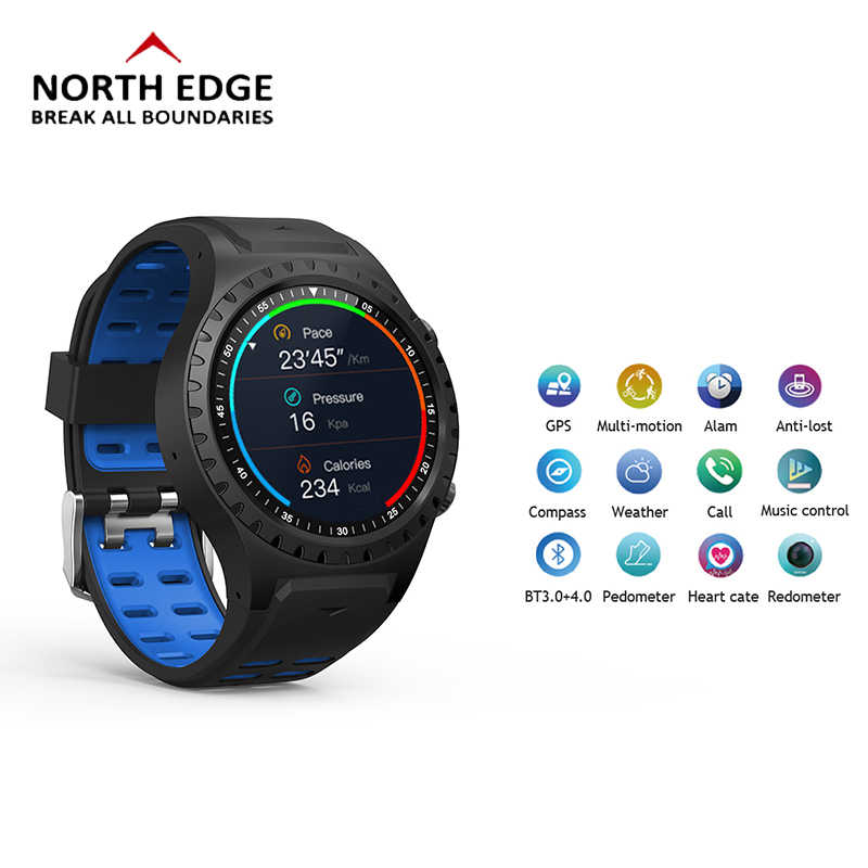 Digital Watch GPS Smart Bracelet Heart Rate relogio masculino Pedometer LED Touch Screen Wristwatches Bluetooth Phone Watch Mens