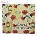 1 Set Cartoon Folower Bird Professional 120 Colors Lovely Nail Gel Polish Display Card Book Chart with Tips Nail Art Salon Set