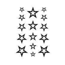 Temporary Body Art Hollow Stars Water Transfer Flash Tattoo Finger Wrist Arm Sticker 1PCS Waterproof Henna Style