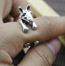 Кольцо с милым бултерьером кольцо героями мультфильмов животных