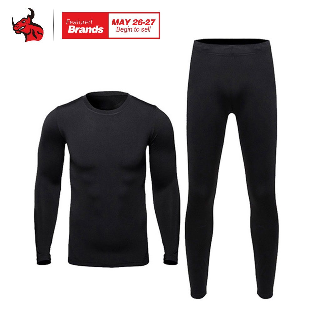HEROBIKER Men Thermo Underwears Suits Set Motorcycle Skiing Winter Warm Base Layers Tight Long Johns Tops