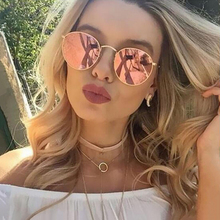 2019 Oval Classic Sunglasses Women/Men Brand Designer Vintage Eyeglasses Street Beat Shopping Mirror Oculos De Sol