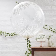 36inch Large Confetti Balloons Bride To Be Balloon Rose Gold Party Decoration White Wedding Helium Bachelorette Supplies