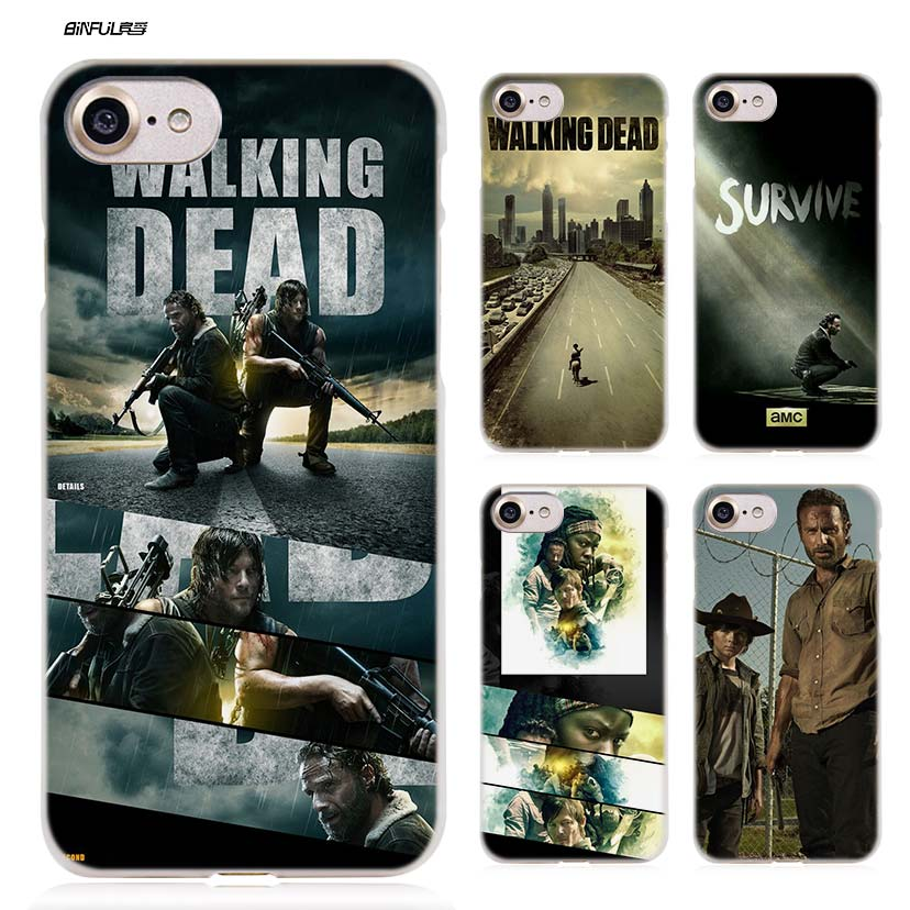BiNFUL The Walking Dead  H Hard Clear Case Cover Coque for iPhone X 6 6s 7 8 Plus 5s SE 5 4s 4 5c