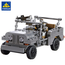 199Pcs Military US Army Willys MB Jeep Airborne Car WW2 Weapon Building Blocks Sets Soldiers Bricks LegoINGLs Toys for Children