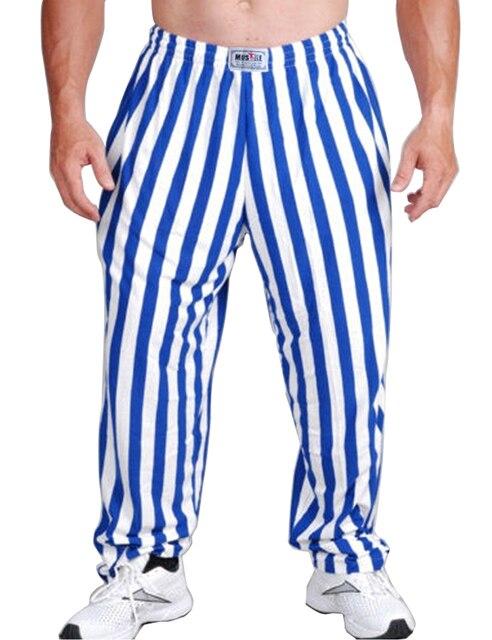 Brand Mens Bodybuilding Baggy Pants Casual Joggers Cotton Trousers Gymshark Professional Bodybuilding Sweatpants