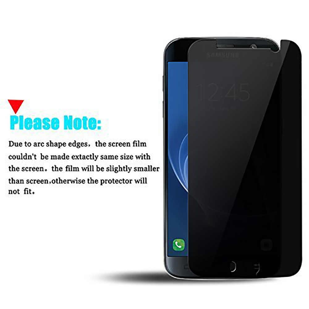 2.5D с уровнем твердости 9 H против подсматривания закаленное Стекло для samsung Galaxy S3 S4 S5 S6 S7 Защитное стекло для сохранения личной информации для samsung Note 3 4 5 пленка Стекло