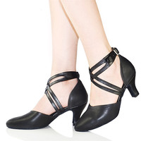 Retail Basic Latin Dance Shoes Woman High Heel 5 6 8cm For Salsa Modern Dance Shoes