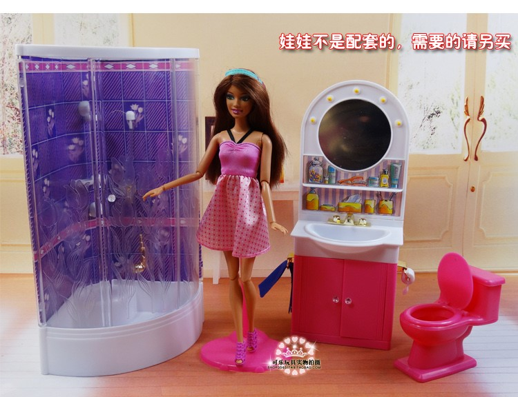 Aliexpress.com : Buy New Arrival Cute BathRoom Doll Accessories Furniture  For Barbie Doll Christmas/Birthday Gift Children Play Set From Reliable  Furniture ...
