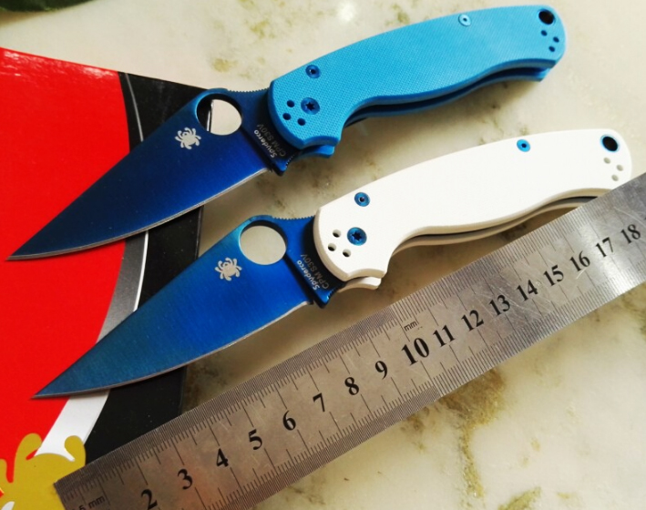 Newest High quality C81 58HRC 8CR13MOV blade G10 handle folding font b knife b font survival