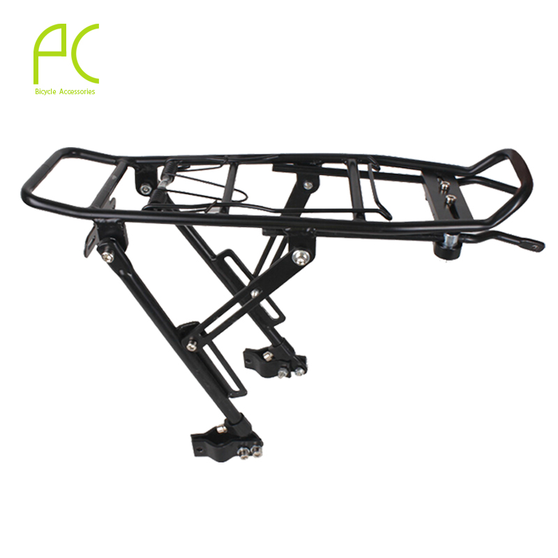 PCycling Bicycle Cargo Racks 60kg Aluminum Alloy MTB Road Bike Rack Carrier Rear Luggage Cycling Shelf Bracket for V-brake 2018 bike luggage cargo rear rack can be acted as power bank useful bicycle rear carrier racks new bicycle accessories