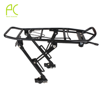 PCycling Bicycle Cargo Racks 60kg Aluminum Alloy MTB Road Bike Rack Carrier Rear Luggage Cycling Shelf Bracket for V brake