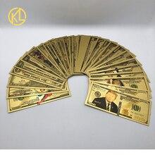 1 шт долларовая Золотая банкнота, 1,2, 5,10, 20,50, 100, 500,1000, 5000,10000, 100000,1 миллионов долларов США, 1 млрд с принтом в виде Человека-паука, Иисус счетная