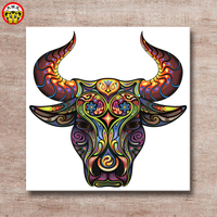 painting by numbers art paint by number Picture in home wall art canvas Spanish DIY bull color