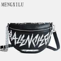 MENGXILU mode femme taille sac dames femmes taille sac 2018 chaînes ceinture Messenger sacs sacs à main femmes célèbre sac à bandoulière